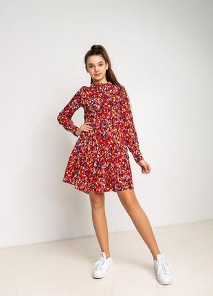 Яркое красивое натуральное платье для стильных девченок