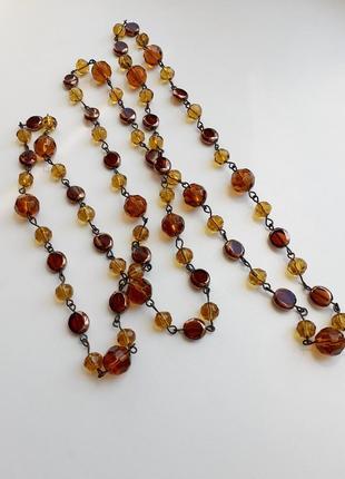 Ожерелье бусы стекло
