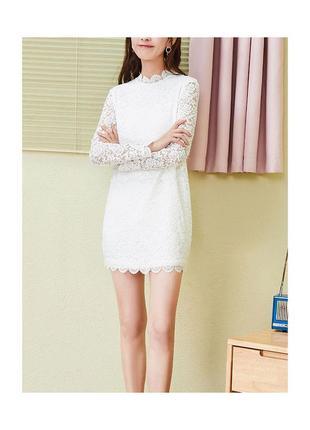 Очень красивое кружевное платье на невысокий рост