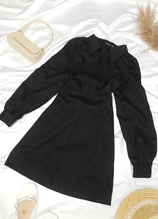 Красива сукня з вортніком та гудзиками від boohoo