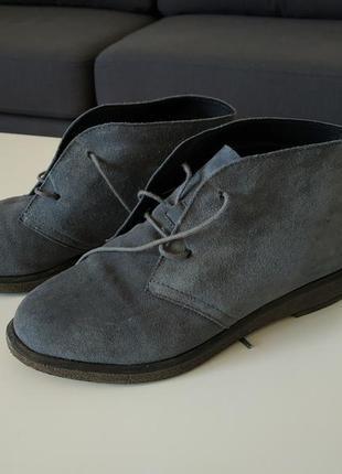 Замшевые ботинки дезерты, 38р