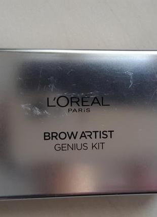 Палетка для бровей brown artist genius kit loreal