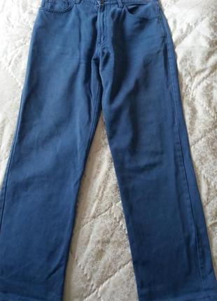 Трендовые женские прямые голубые джинсы pierre cardin франция размер 33, l/48.