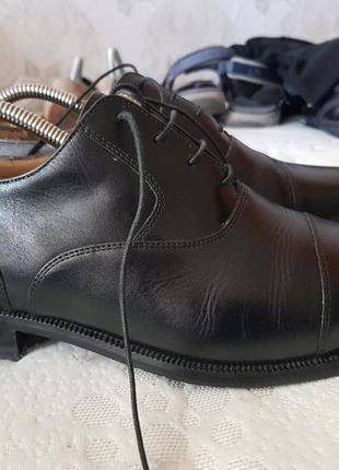 Мужские классические, кожаные туфли clark's