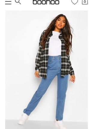 Мом джинсы высокая посадка маленький размер boohoo