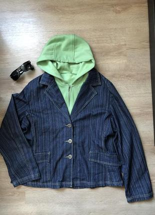 Джинсова куртка з капюшоном  yessica
