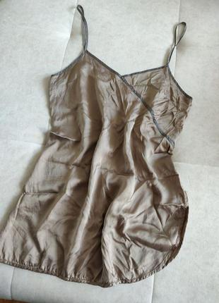 Шелковая ночнушка шёлковая ночная рубашка шелковый пеньюар