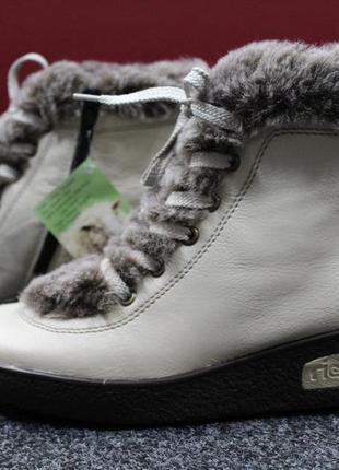 e453ab9dc Недорого женские зимние ботинки rieker, натур. кожа, натур. овечий мех