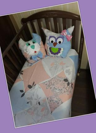 Простыня на резинке + подушка, комплект постельного белья