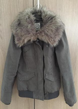 Демисезонная куртка с мехом house