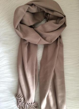 Бежевый шарф в наличии