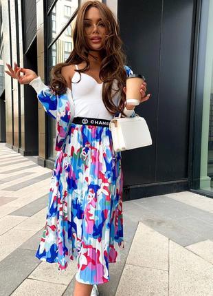Брендовый костюм шанель и юбка и кофта шанель chanel