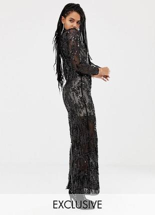 Шикарное платье asos в пайетках