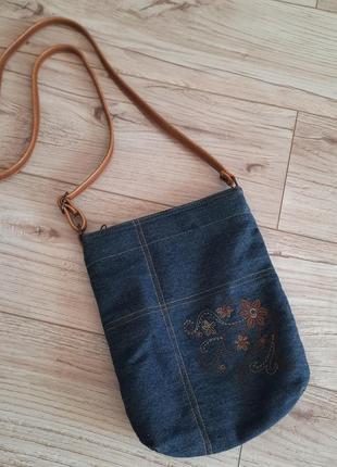 Джинсовая сумочка кросбоди