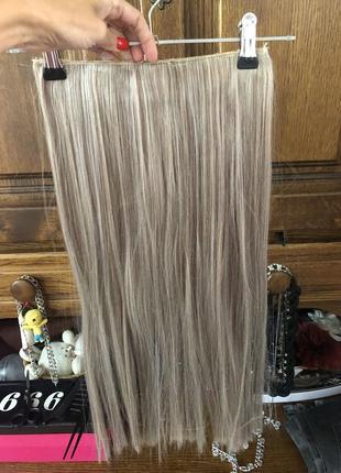 Пепельный блонд платиновый блонд мелированный тресс волос длина 56см