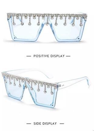 Стильные солнцезащитные очки с камнями2 фото