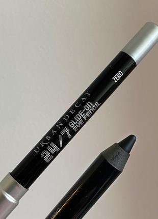 Водоустойчивый черный карандаш для век urban decay 24/7 glide-on, zero