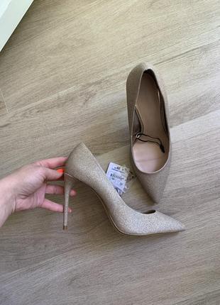 Zara туфли лодочки свадебные туфли