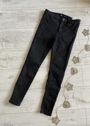 Черные джинсы женские скинни в обтяжку sinsay