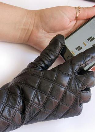 Женские кожаные перчатки-сенсорные