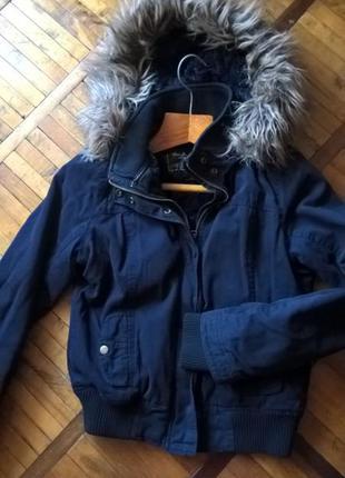 Теплая курточка с меховым капюшоном ❄утепляемся по хорошим ценам !!!