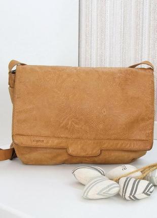 Кожаная сумка, кроссбоди, kaszer, натуральная кожа