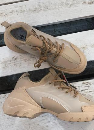 Стильные кроссовки в стиле диор в наличии