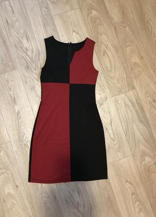 Новое платье  футляр сарафан  сукня размер s обтягивающее чёрное