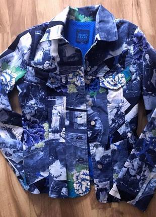 Джинсовый жакет пиджак kenzo японский стиль