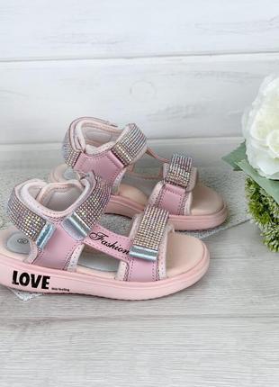 Розовые босоножки сандалии для девочки 26-37
