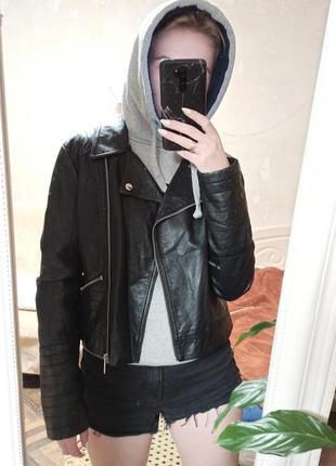 Кожаная куртка кожанка косуха курточка из эко кожи