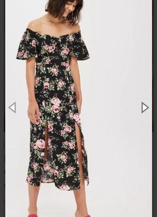 Платье topshop в цветочный принт