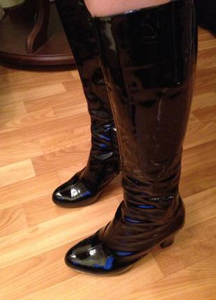 Шикарные кожаные лаковые сапоги clarks activ air