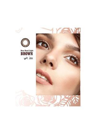 Цветные коричневые линзы anna sui