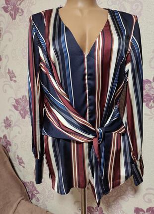 Блуза с запахом и рисунком lipsy размер 48-50.цена снижена!!!