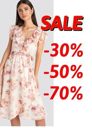 🆘🔥 ликвидация товара🆘🔥    нежное цветочное винтажные платье миди в цветы