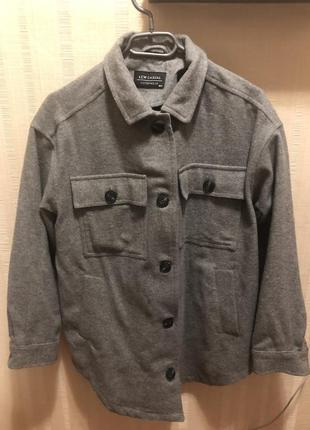 Тёплая рубашка пальто