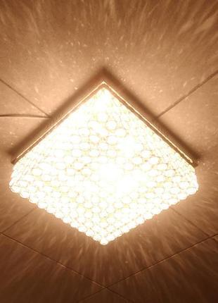 Хрустальная светодиодная люстра с регулировкой яркости света и пультом д.у.