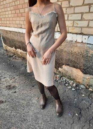 Лляне платтячко сарафан