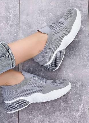 Легкие кроссовки 🌺 мокасины стрейч дышащие на лето текстиль сетка легкие
