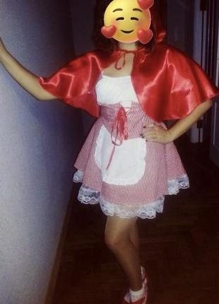 Продам костюм карнавальний червона шапочка