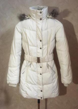Светлый пуховик зимняя куртка  seppala