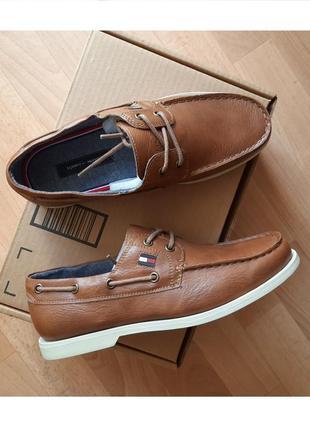 Tommy hilfiger (стел-29см). мужские туфли, топсайдеры, мокасины. оригинал.