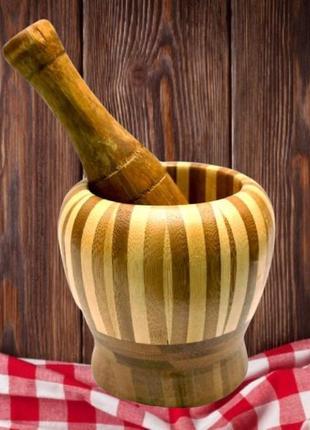 Ступка деревянная экологически безопасная