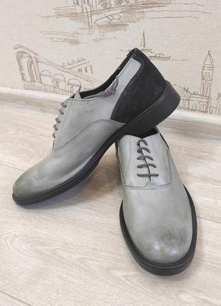 Кожаные туфли  дерби 42р. италия