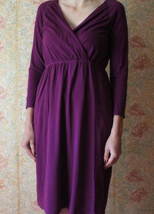 Комфортное коттоновое платье миди на запах