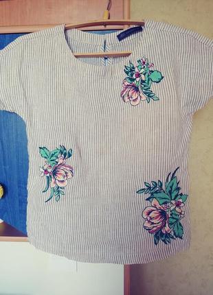 Шикарная льняная блузка