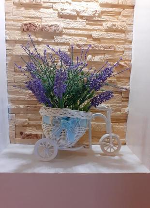 Декор для дома,кашпо,салфетница,декоративный велосипед.