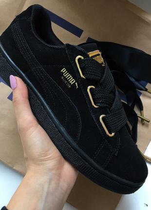 Кроссовки чёрные замшевые