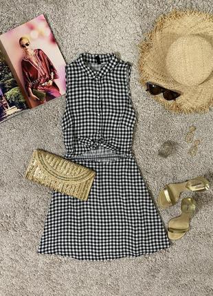 Легкое летнее платье рубашка в клетку №404max